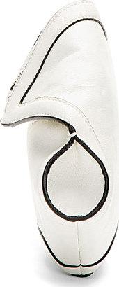 Alexander McQueen Ivory White Leather De Manta City Clutch