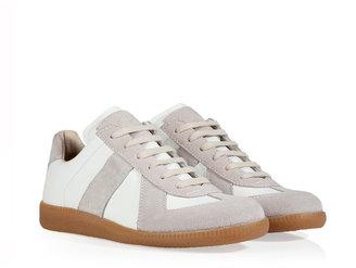 Maison Martin Margiela Leather/Suede Replica Sneakers in White