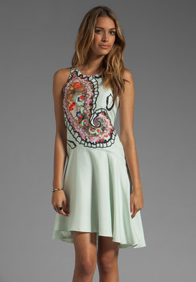 Cynthia Rowley Magnified Paisley Halter Dress