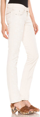 Isabel Marant Galix Embroidered Jean in Pale Shaw