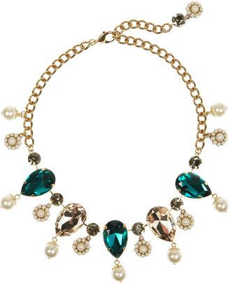 Dolce & Gabbana Gold-plated oversized Swarovski crystal necklace