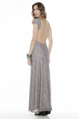 Lovers + Friends Vanity Fair Dress in Grey Lace $229 thestylecure.com