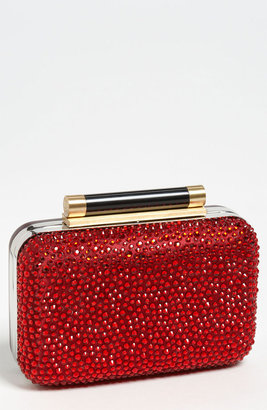 Diane von Furstenberg 'Tonda - Small' Crystal & Leather Clutch