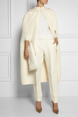Valentino Hooded wool and silk-blend cape