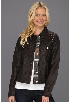 Roxy Dancing Shores Pleather Jacket (Decadent Chocolate) - Apparel