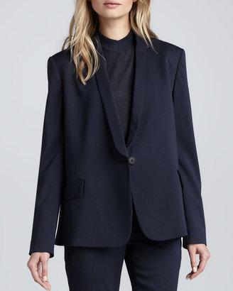 Theyskens' Theory Janton Crepe Suit Jacket