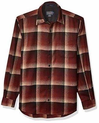 Pendleton Men's Size Long Sleeve Button Front Tall Lodge Shirt