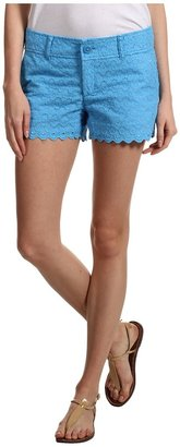 Lilly Pulitzer Walsh Short (Flutter Blue Sweet Floral Eyelet) - Apparel