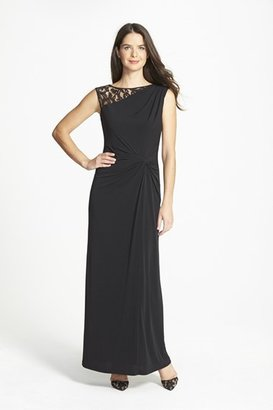 Women's Ellen Tracy Lace & Jersey Gown $148 thestylecure.com
