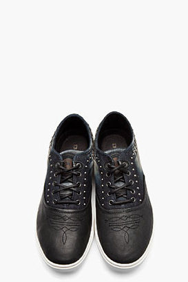 Diesel Blue Denim and leather the dodge sneakers