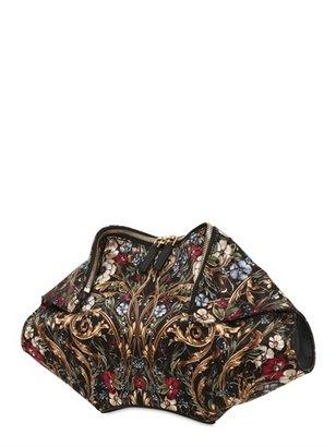 Alexander McQueen Printed Silk Satin De Manta Clutch