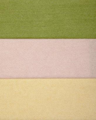Neiman Marcus Linen Cropped Boxy Cardigan