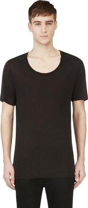 BLK DNM Black Overlong T-Shirt