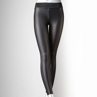 Vera Wang Simply vera faux-leather leggings