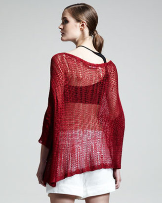 Helmut Lang Asymmetric Marled Pullover