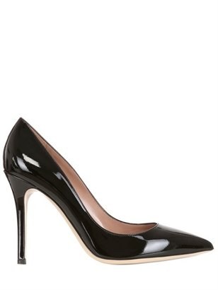 100mm Patent Leather Pointy Pumps