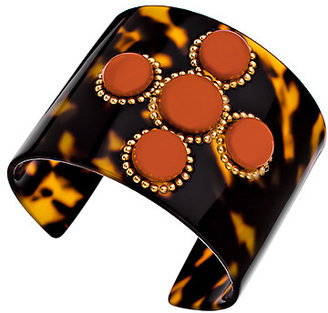 Bellissima Tokyo Persimmon Cabochon Embellished Cuff