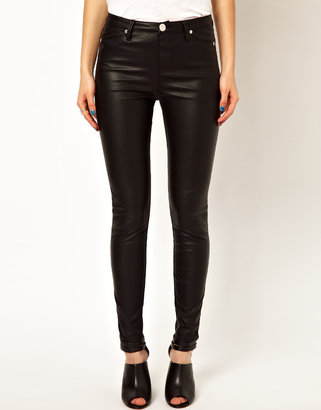 River Island Molly Leather Look Jegging