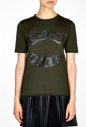 Être Cécile Bad Ass Paris Staple Dip Hem T-shirt