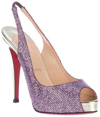 Christian Louboutin open toe shoe