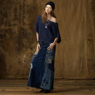 Denim & Supply Ralph Lauren Patched Denim Maxiskirt