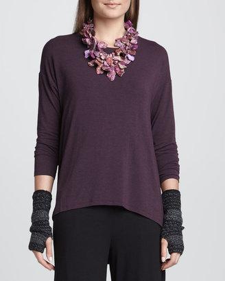 Eileen Fisher Merino Shadow Striped Glovettes