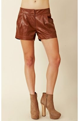 Funktional Leather Pleat Shorts
