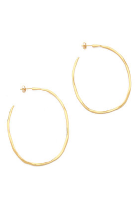 Gorjana Laurel Large Hoop Earrings $65 thestylecure.com
