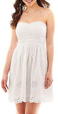 My Michelle Strapless Eyelet Dress