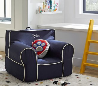 Pottery Barn Kids Navy with White Piping Anywhere Chair