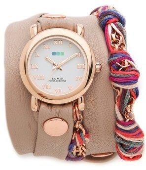 La Mer Fuchsia Friendship Bracelet Watch