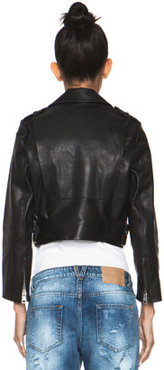 Acne Studios Mape Leather Jacket in Black