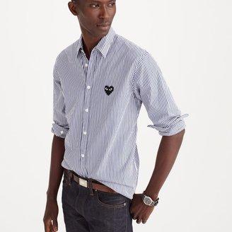 PLAY Comme des Garçons® button-down shirt in stripe $300 thestylecure.com
