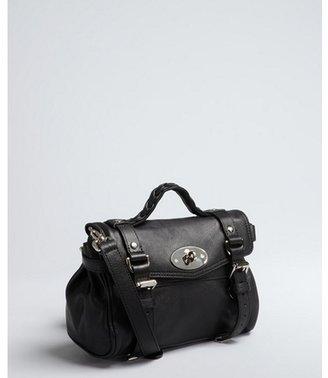 Mulberry black leather 'Mini Alexa' small convertible satchel