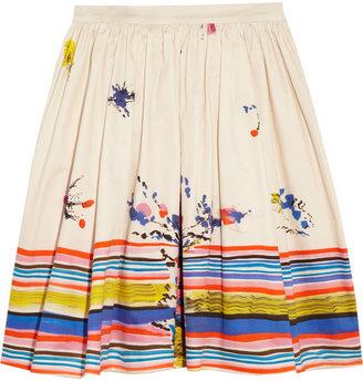 RED Valentino Printed cotton skirt