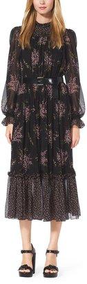 Michael Kors Floral-Print Silk-Chiffon Dress