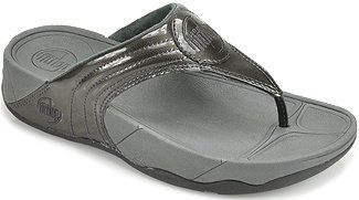 FitFlop WalkStar lll - Thong Sandal in Pewter Patent Leather