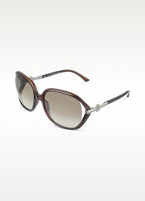 Roberto Cavalli Edera - Logo Temple Round Frame Sunglasses