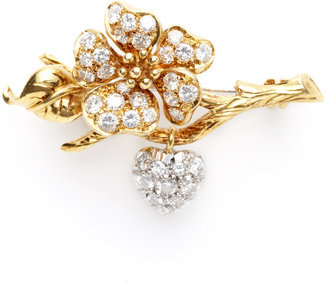Tiffany & Co. Two Tone & Diamond Floral Branch Brooch