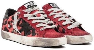 Golden Goose Women's Super Star Leopard Sneakers - Orange