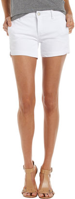 Fade to Blue Denim Shorts, White