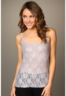 Hanky Panky Metallic Signature Lace Cami w/ Adjustable Straps (Silver/Steel) - Apparel