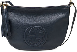 Gucci Soho Leather Messenger Bag, Blue