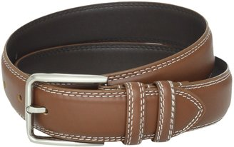 Stacy Adams Men's 35mm Genuine Leather Double Stitched Belt With Keepers