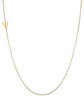 """Maya Brenner Designs Mini Letter Necklace """"V"""""""