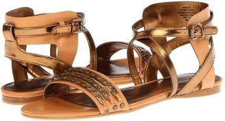 Nine West Scat (Natural/Light Bronze Leather) - Footwear