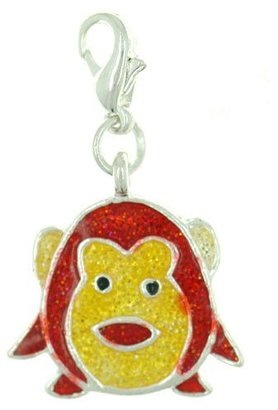 Pugster Kid Jewelry Monkey Kids Jewelry Lobster Clasp Love Dangle Charms Pendant For Dangle Charms Bracelet