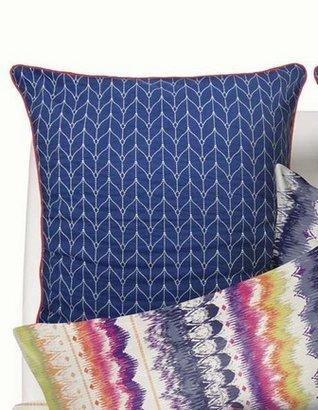 Esprit Quilted Knit European Pillowcase Each in Navy Blue