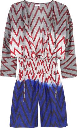 Tara Matthews Zigzag silk jumpsuit
