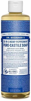 Dr. Bronner's Peppermint Castile Liquid Soap by 16floz Liquid Soap)